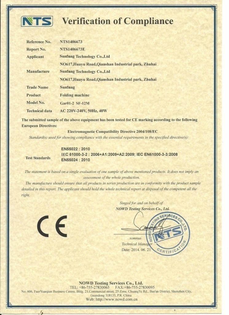 Paper folder CE 1