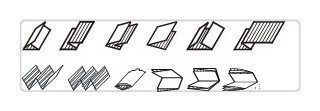 Folding machine-fold types
