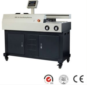 Automatic binding machine with side glue