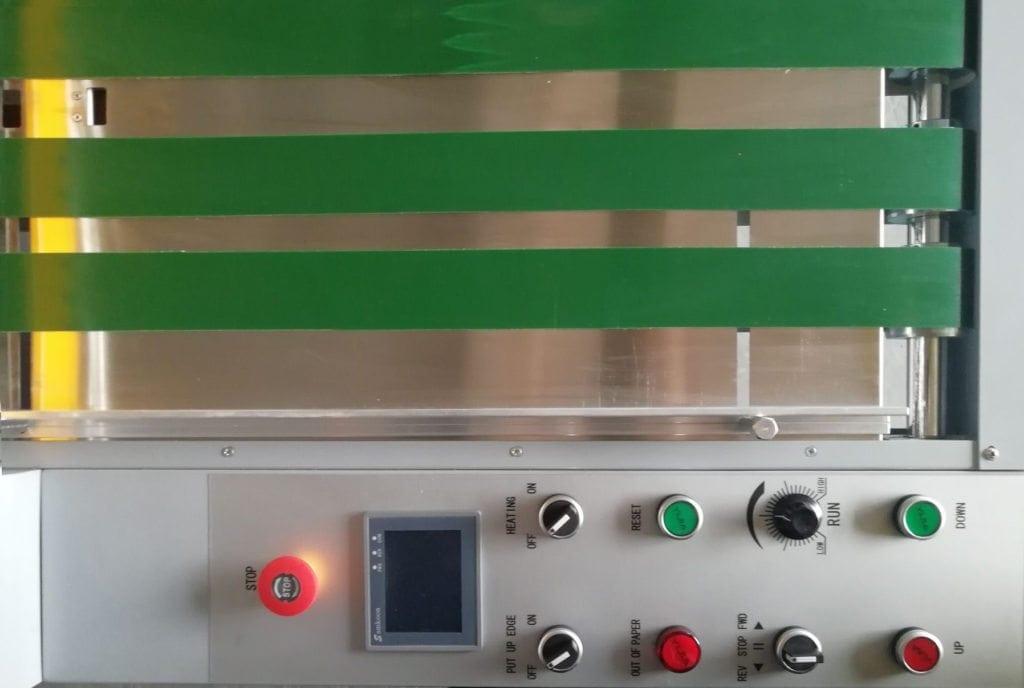 Hydraulic laminator control panel